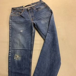 32x30 GAP Jeans Orig Fit Natural Distress